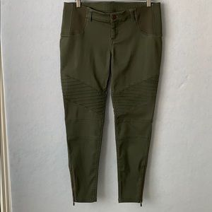 Maternity Stacked Jeggings - Army Green